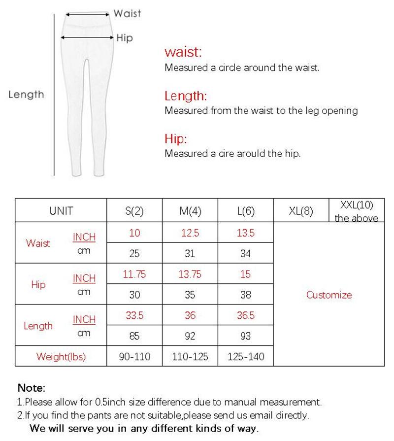 F006裤子尺寸表