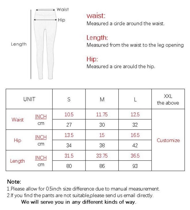 G044 SIZE CHART